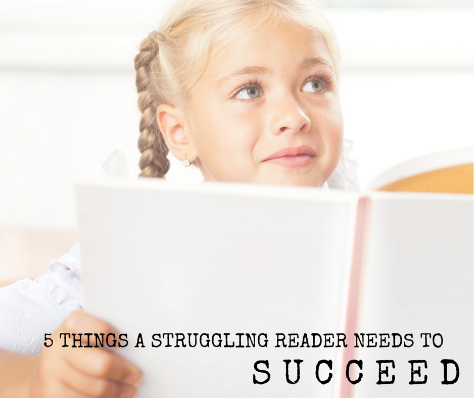 5 things to help a struggling reader succeed